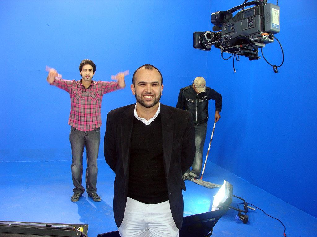 Ali Aedan with Baghdad TV