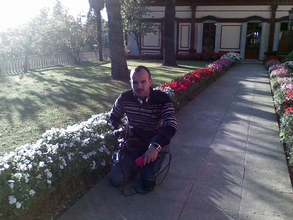 Ali Aedan in the field for college project
