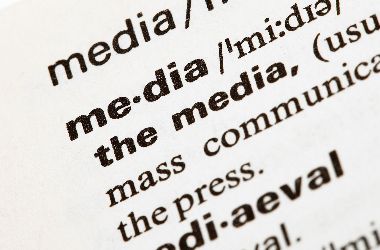 Media in the dictionary