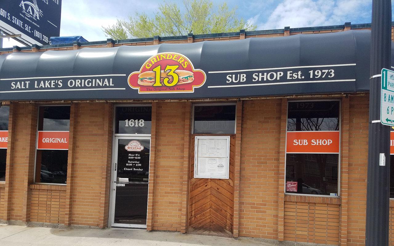 Grinders 13 storefront