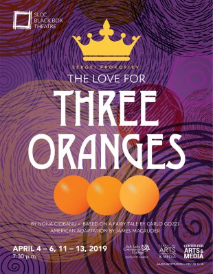 """""""The Love for Three Oranges"""" poster"""