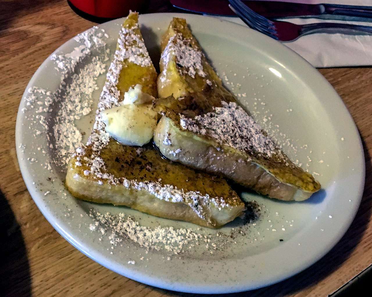 A plate of french toast at Penny Ann's