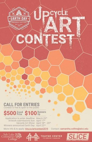 Upcycle Art Contest poster