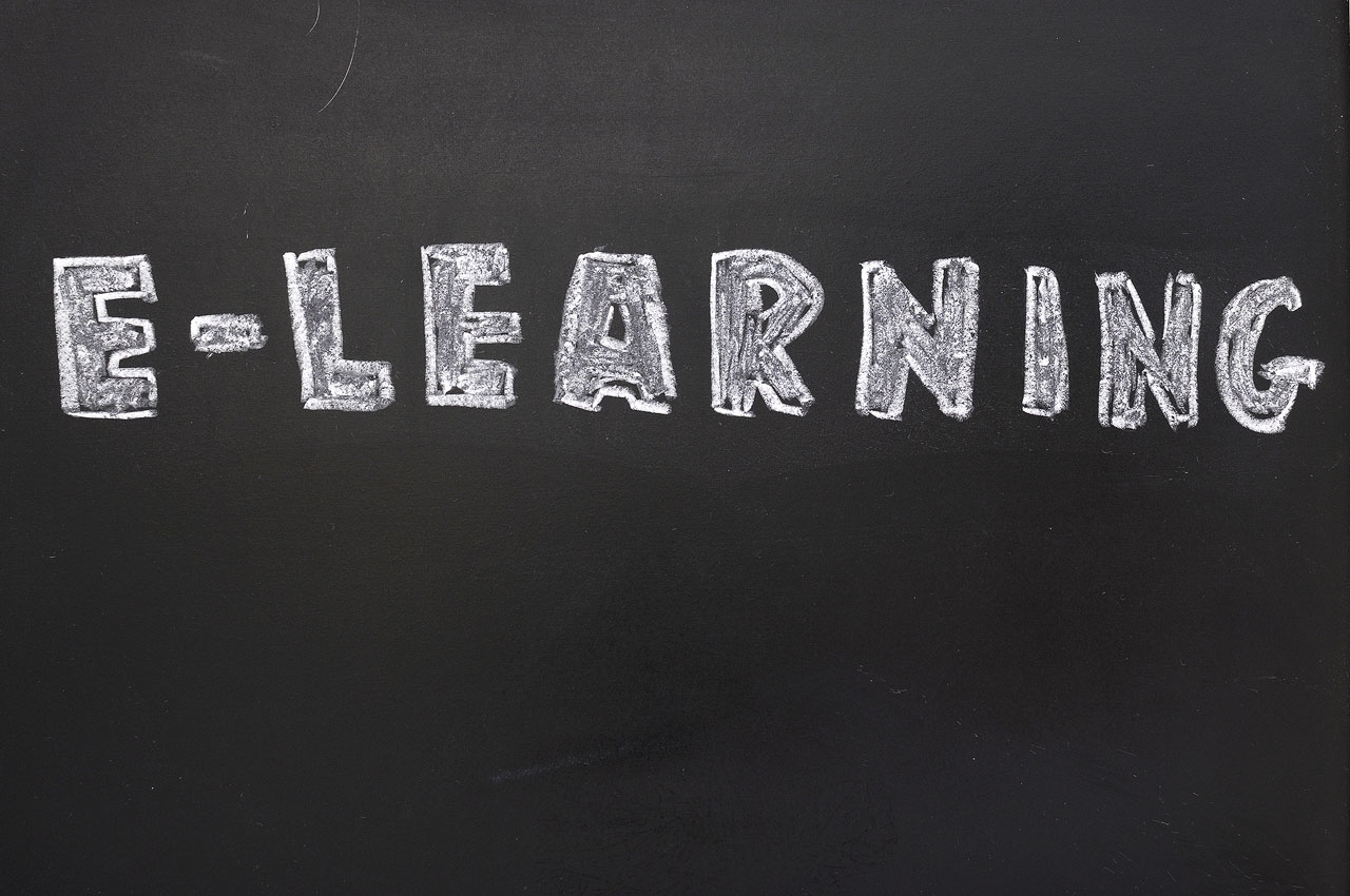 Education via the Internet on a blackboard