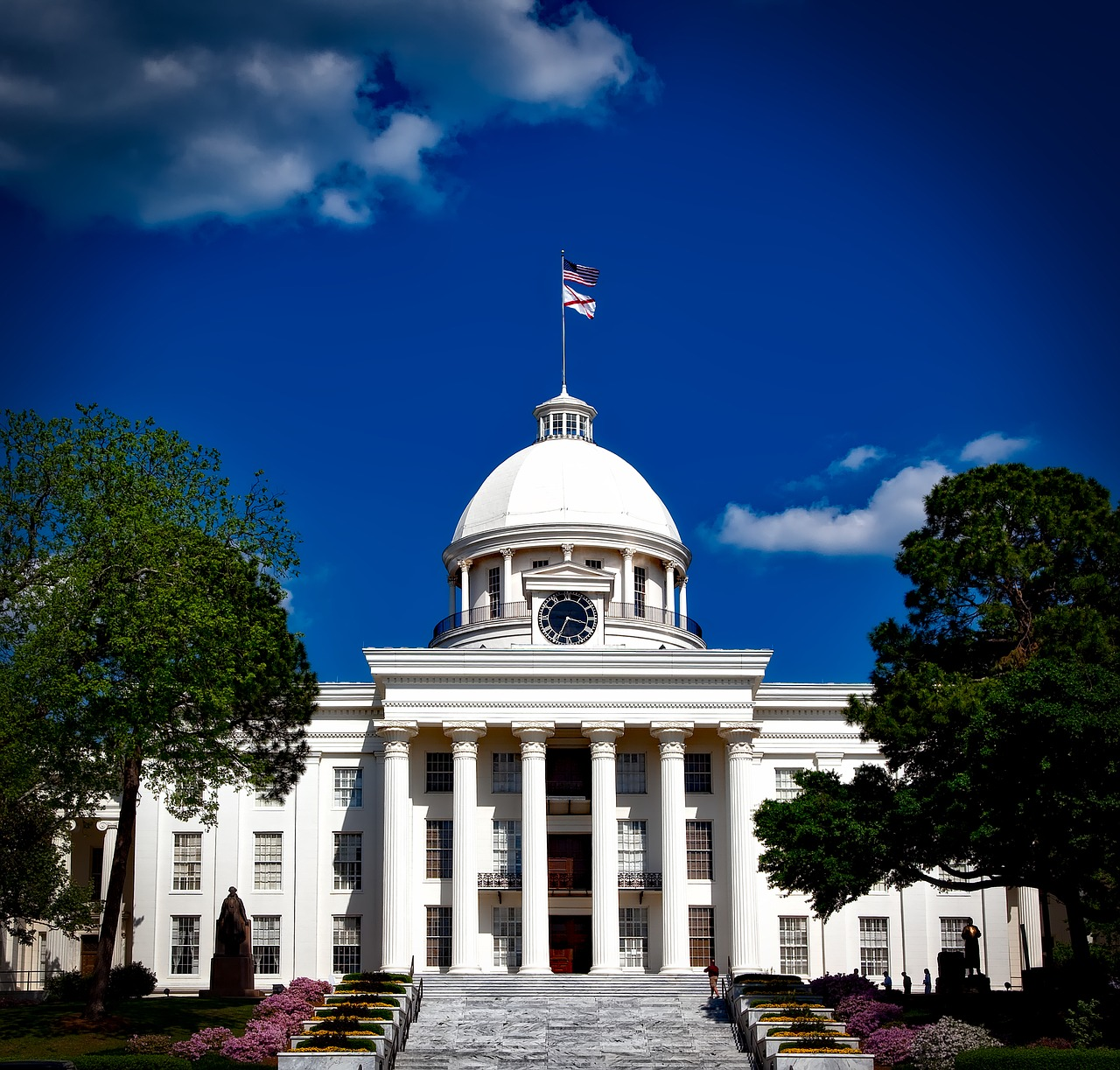 Front of the Alabama State Capitol