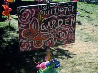 "Butterfly sign with the words ""pollinator garden"""