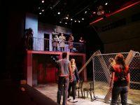 Actors working backstage