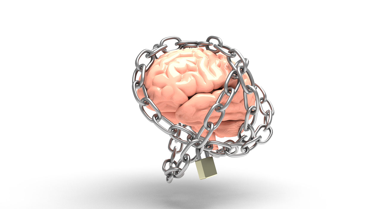 Brain trapped in chains