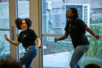 Rebecca and Ryiah dance