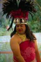 Leka Heimuli in traditional Polynesian dress