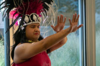 Leka Heimuli dances for the audience