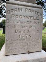 Orrin Porter Rockwell grave marker with bullet