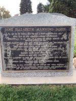 Front of Jane Elizabeth Manning James' headstone