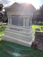 Wilford Woodruff grave marker