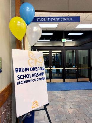 Bruin Dreams Scholarship Recognition Dinner signboard
