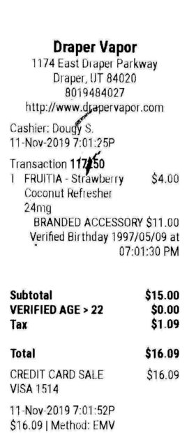 A receipt shows the loophole mixed-retailers use to avoid zoning laws