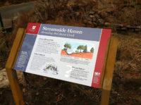 """""""Streamside Haven"""" sign"""
