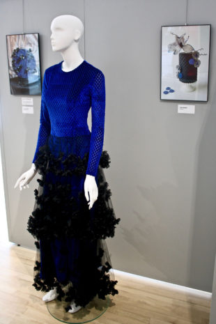 Blue and black dress by Michael Ryan Andolsek