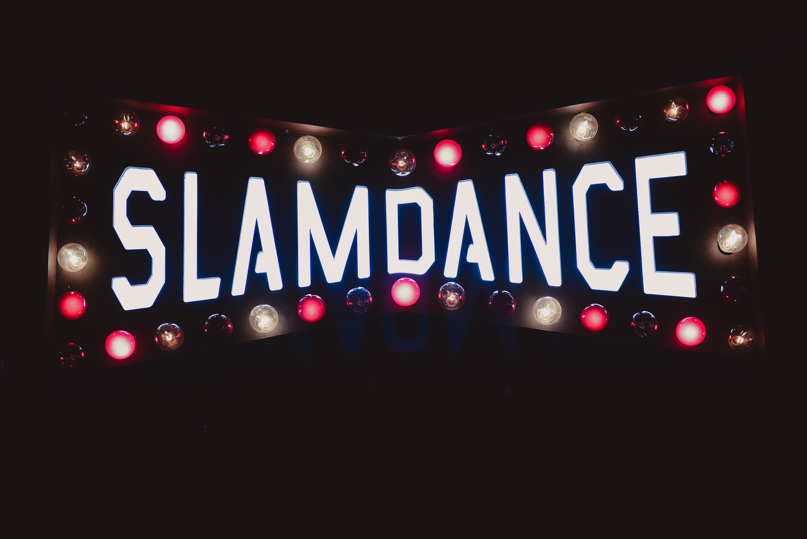 Slamdance sign lit up