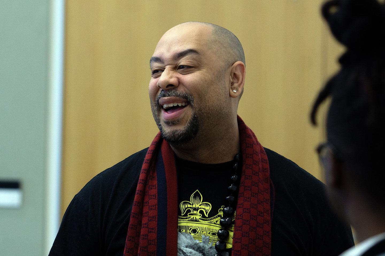 Raymond Santana smiles