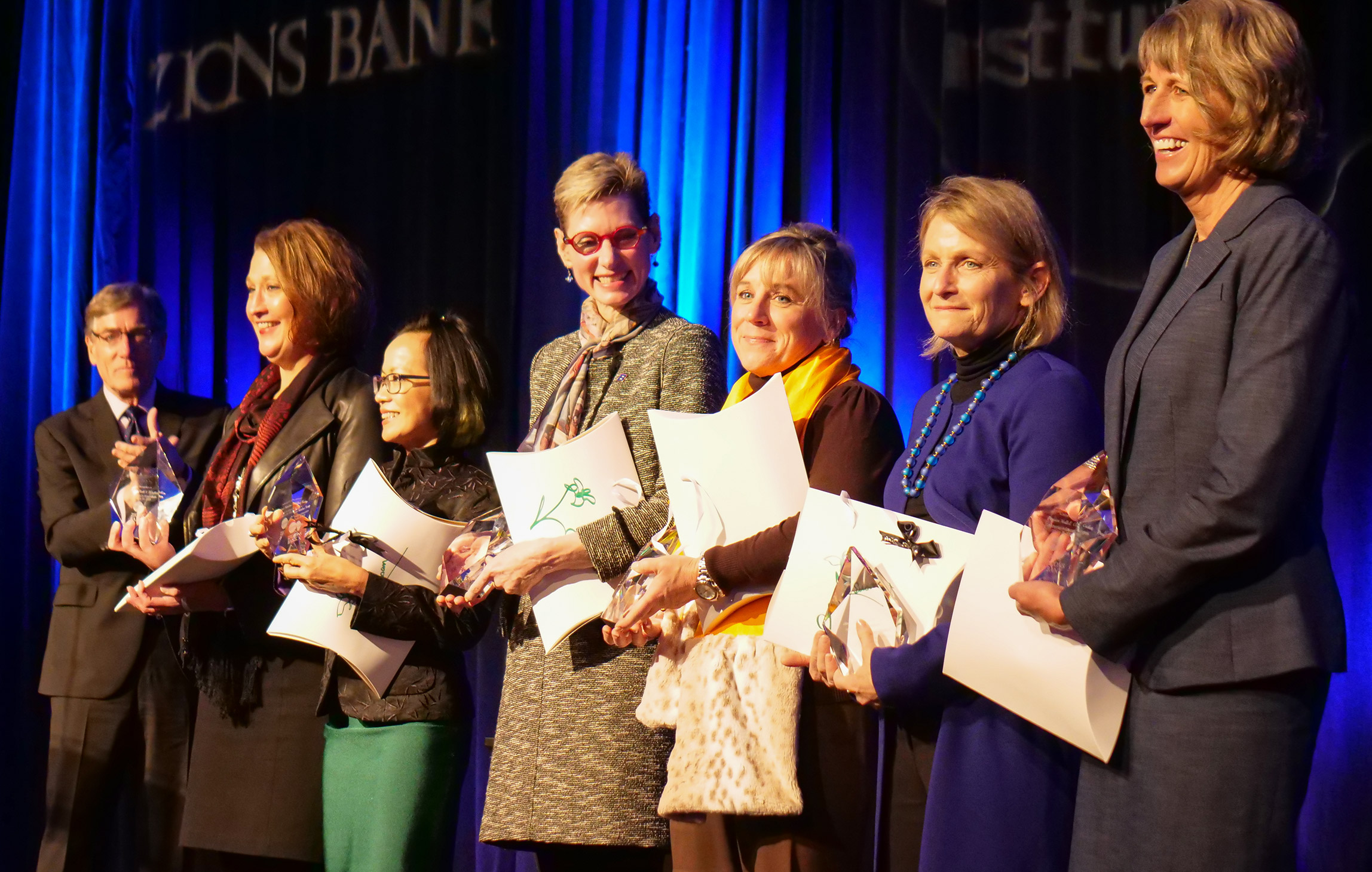 Women's Leadership Celebration honorees stand together