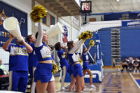 SLCC cheerleaders rally the crowd