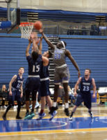 Tutu Majok (23) attempts a layup