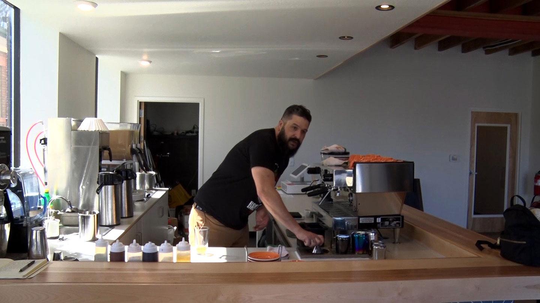 Cafe co-owner Mike Tuiasoa