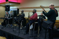 The G Brown Quintet on stage