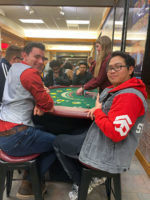 Two players at the poker table