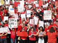 Sea of red pleading lawmakers for funding