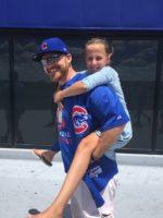 Brian Preece carries his niece