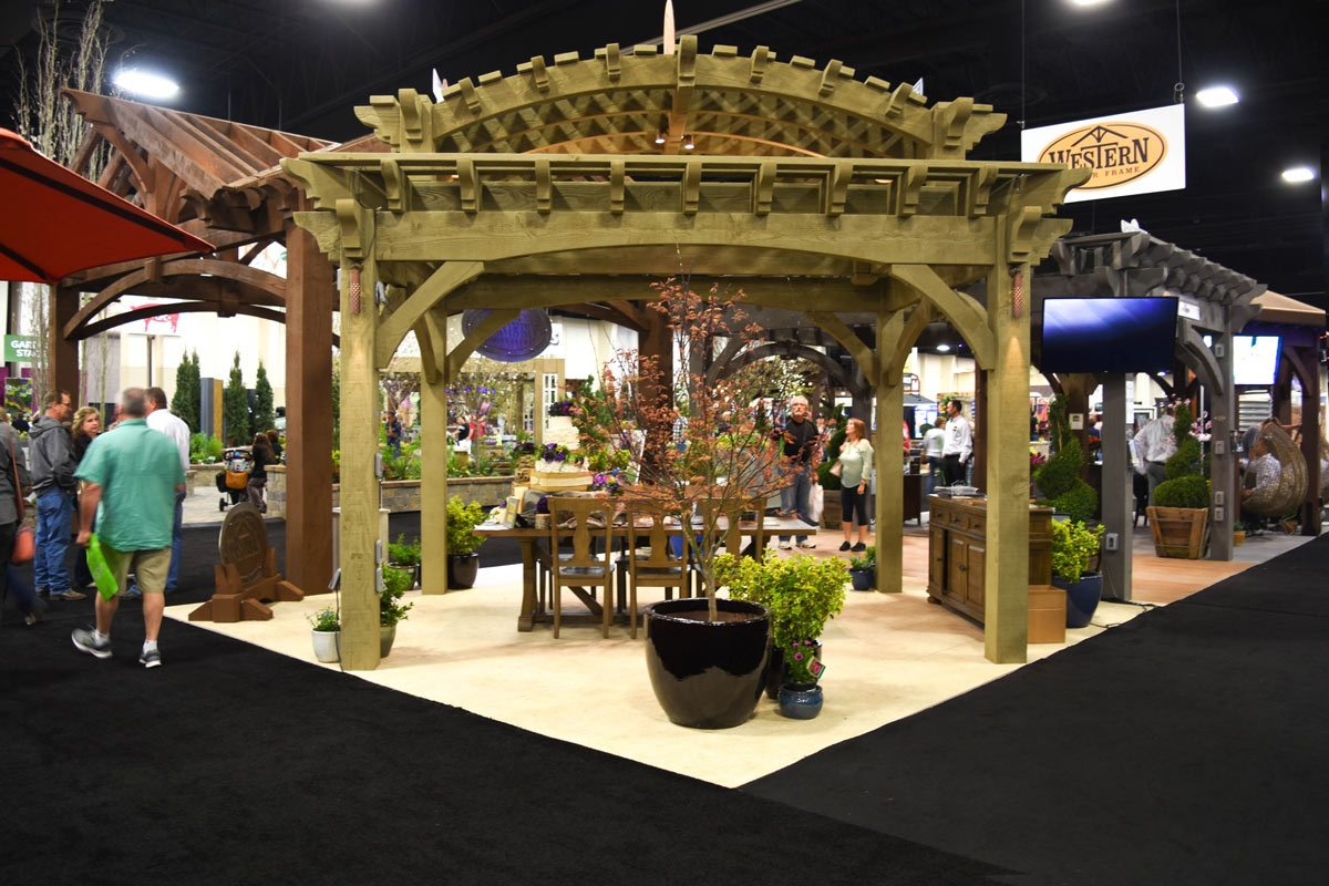 The arched double tiered pergola