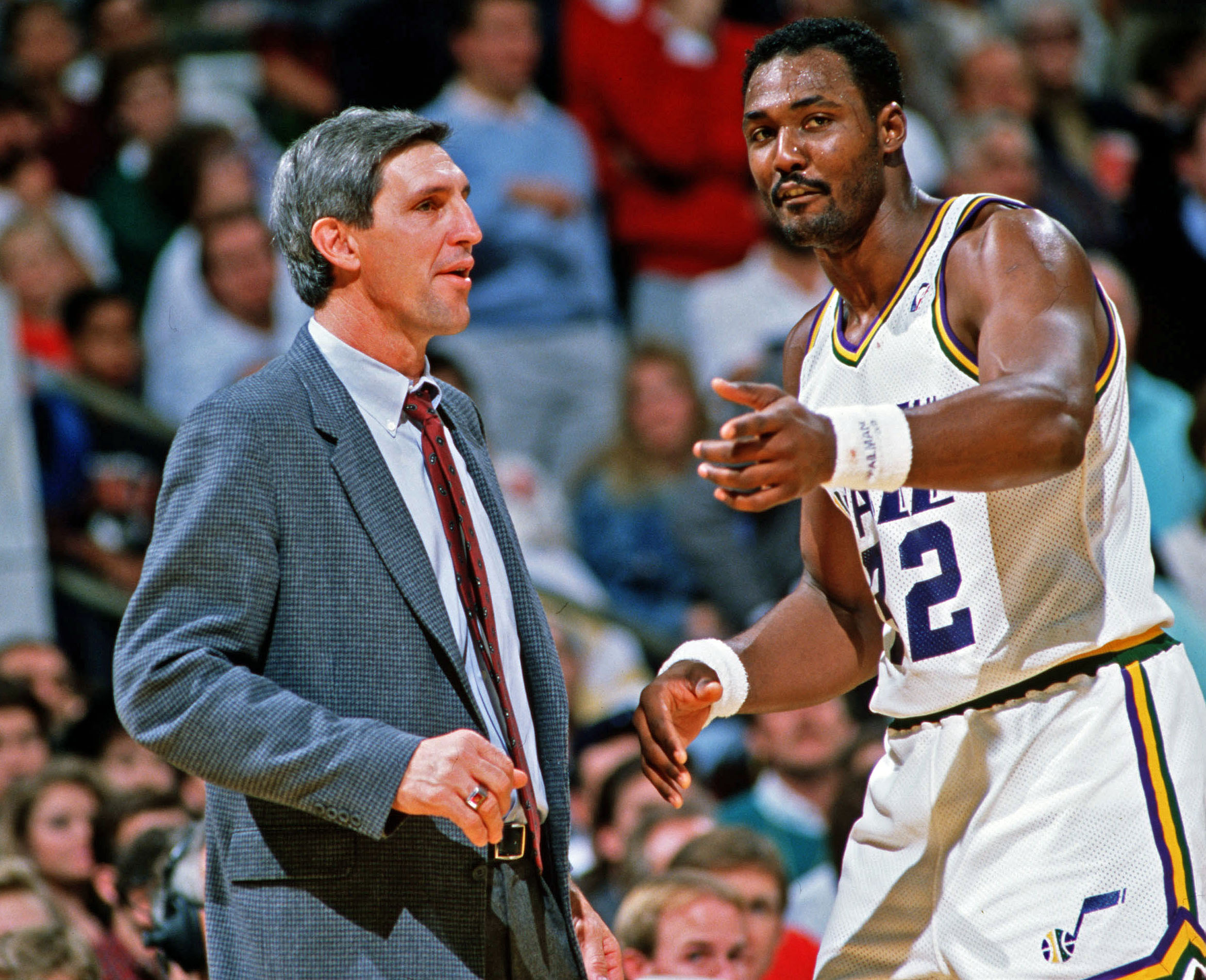 Jerry Sloan and Karl Malone
