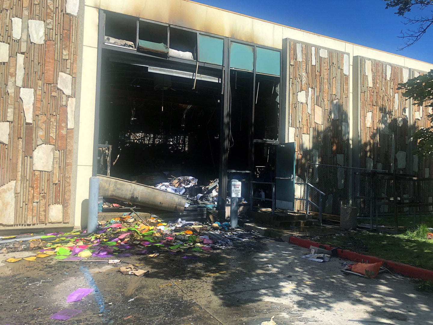 Building contents destroyed by fire