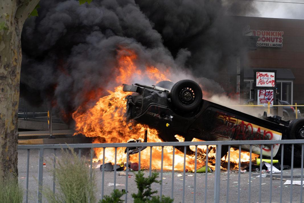 Fuel tank explodes