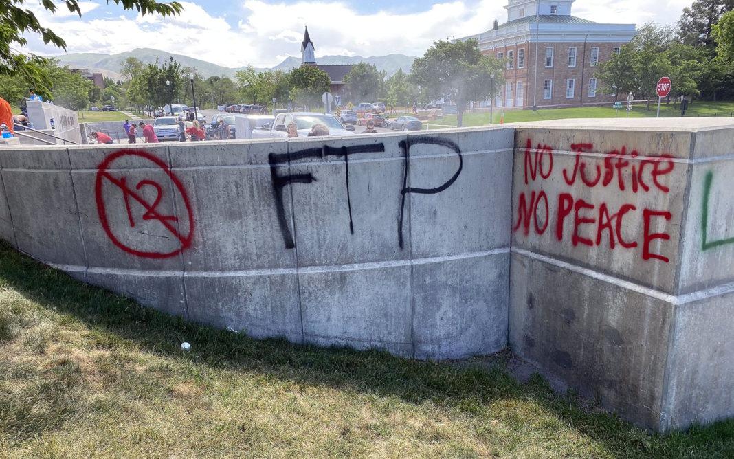 Graffiti on Capitol grounds