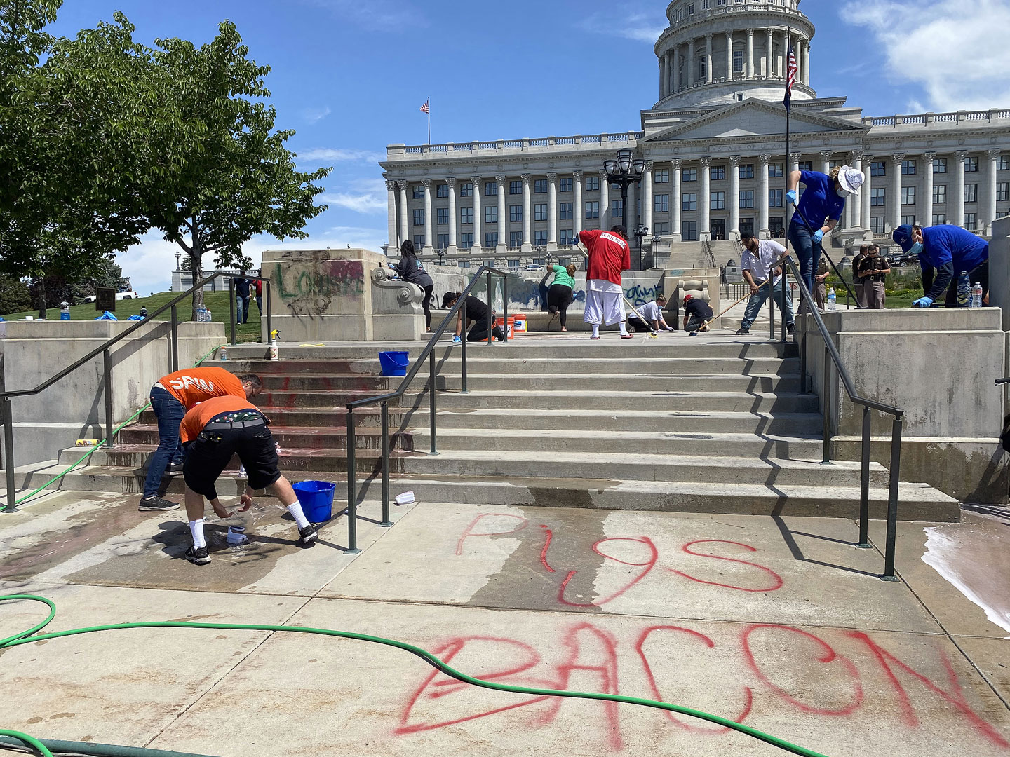 Clean-up crew at the Capitol