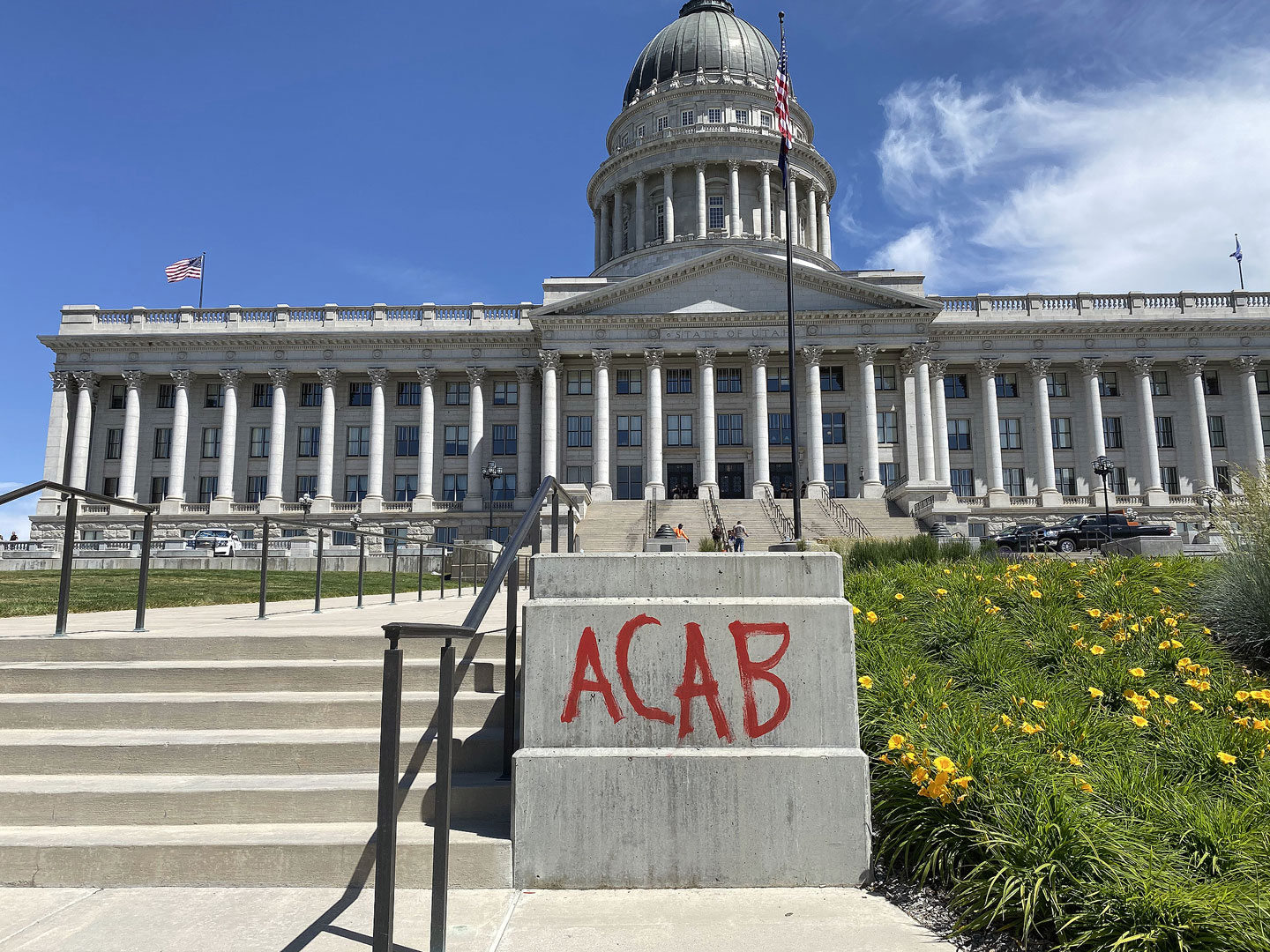 """ACAB"" graffiti on Capitol grounds"