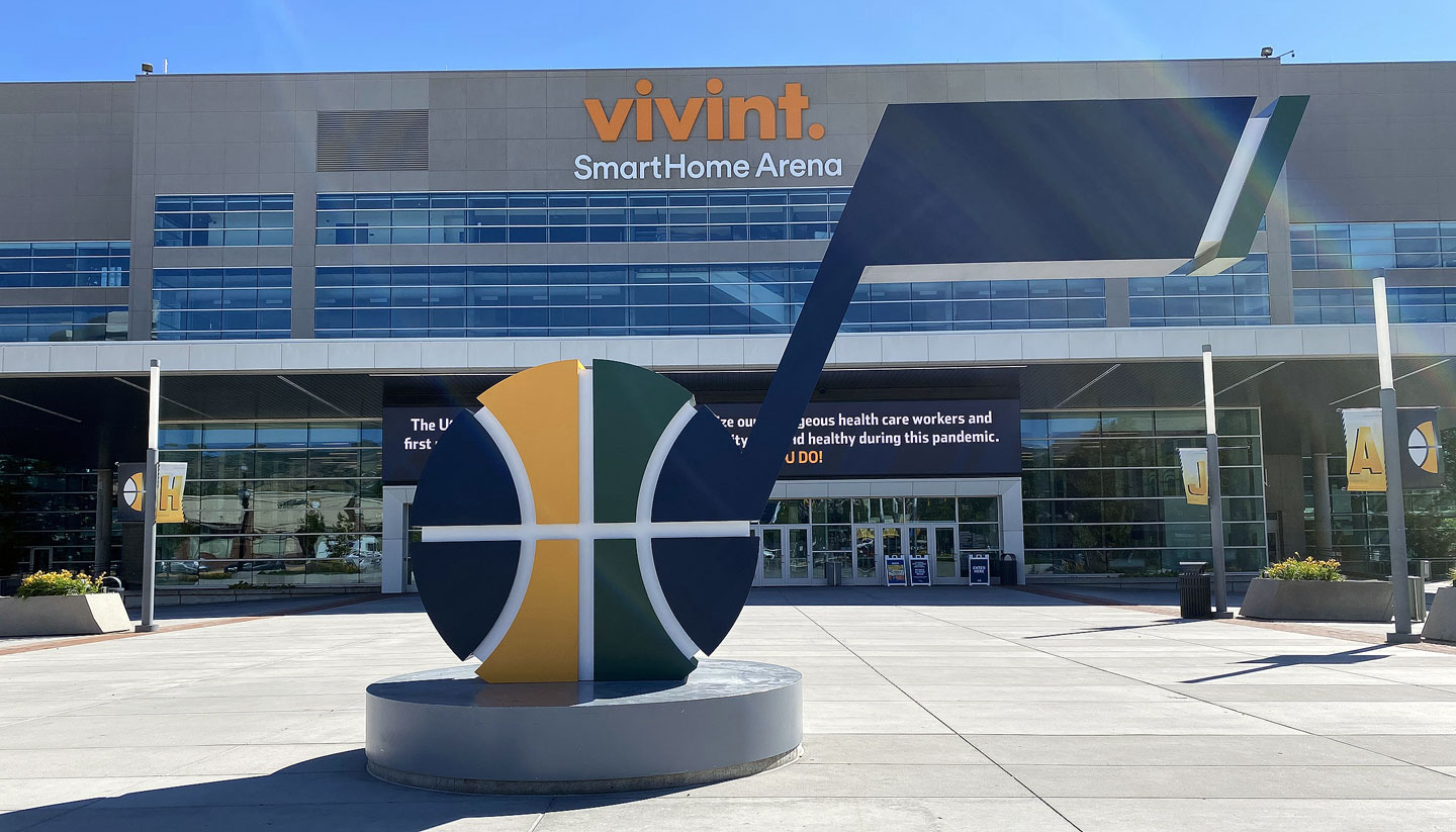 The J-Note in front of Vivint SmartHome Arena