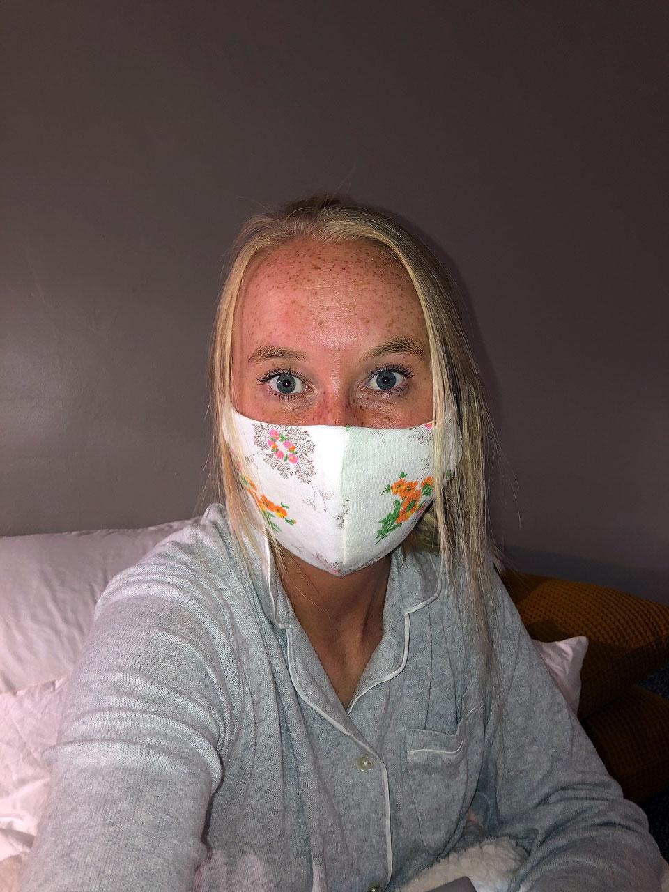 Albany Miller shares a mask selfie