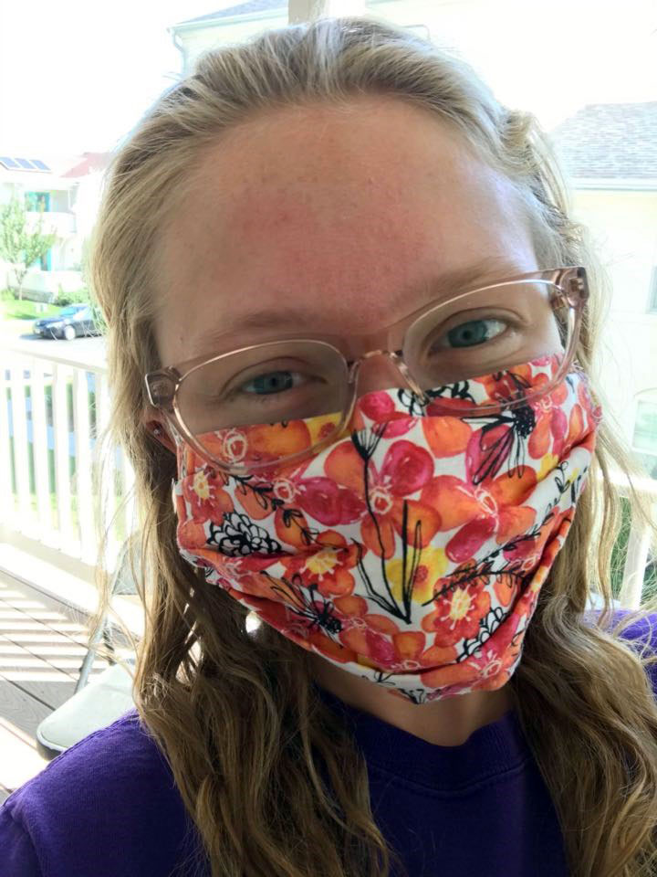 Carol Chatwin shares a mask selfie