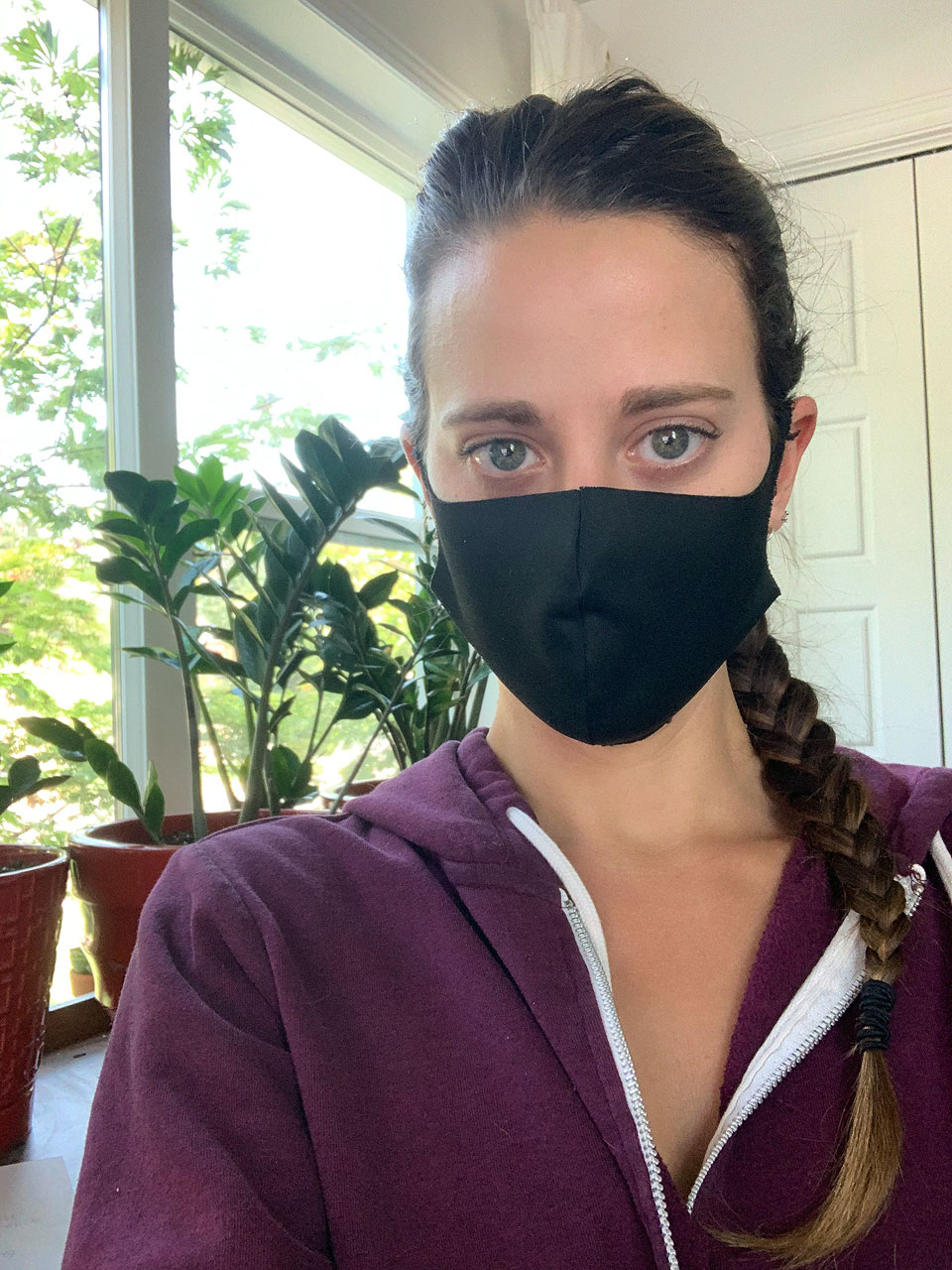 Emily Ryberg shares a mask selfie