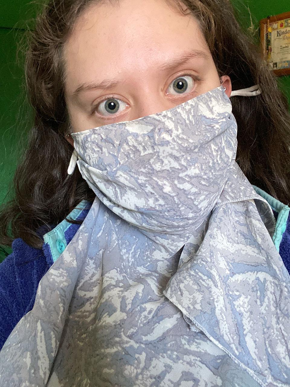Isabel Aguilar shares a mask selfie