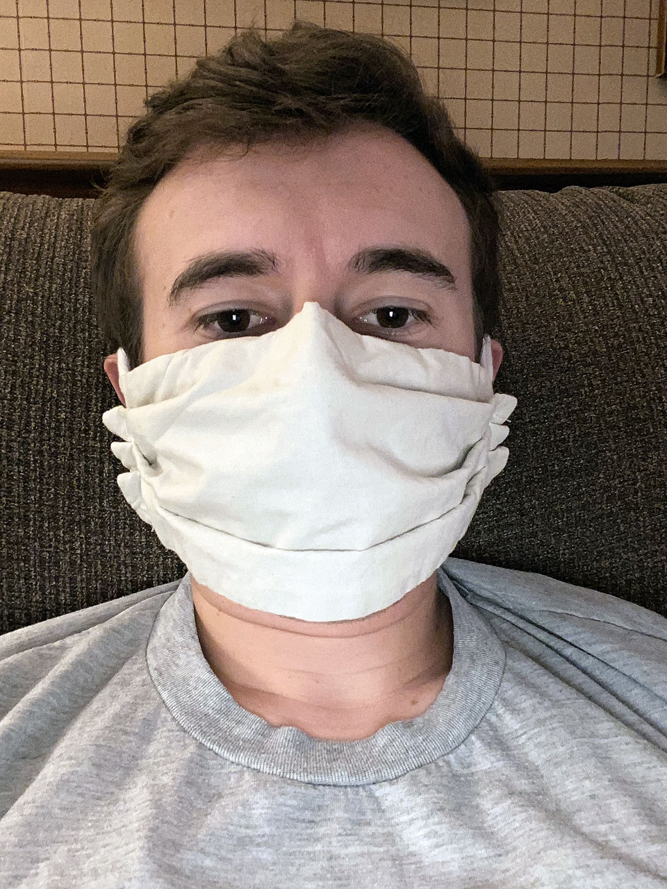 Josh Degen shares a mask selfie