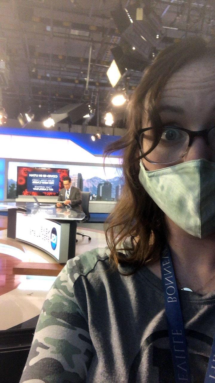 Lauren Wilcox shares a mask selfie
