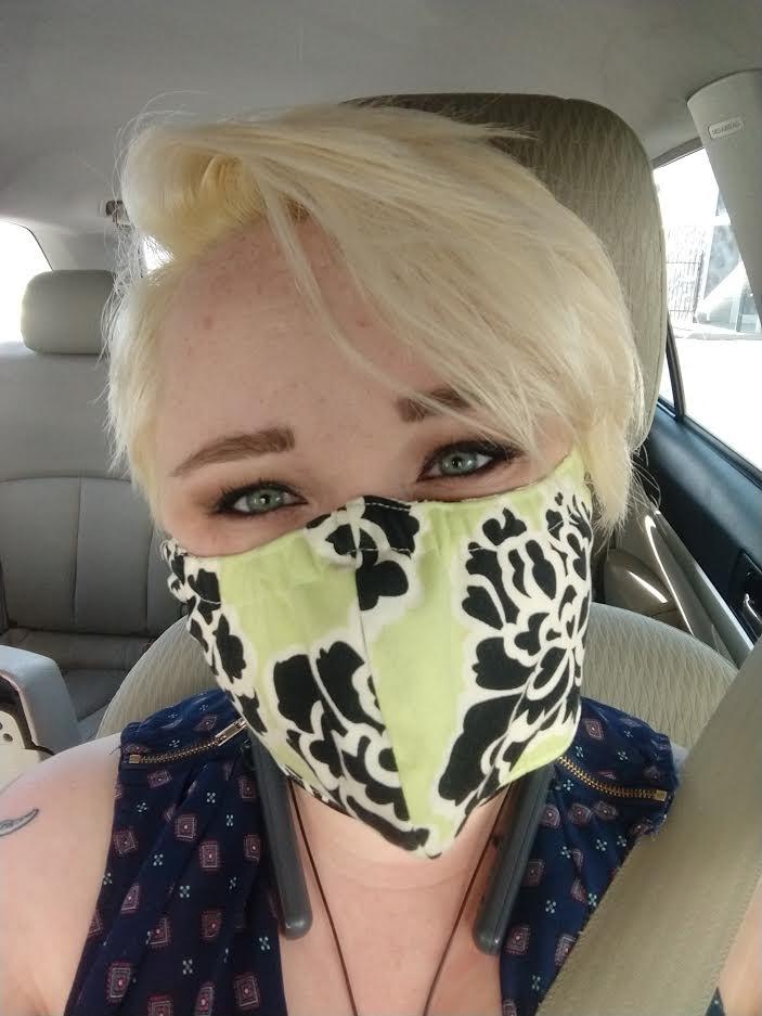 Melissa Anne Kohler shares a mask selfie