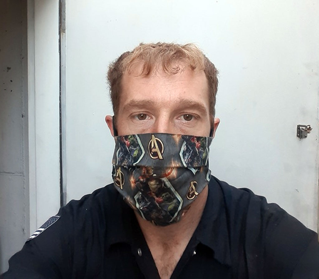 Michael Getts shares a mask selfie