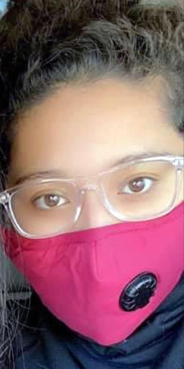 Monique Rebaza shares a mask selfie