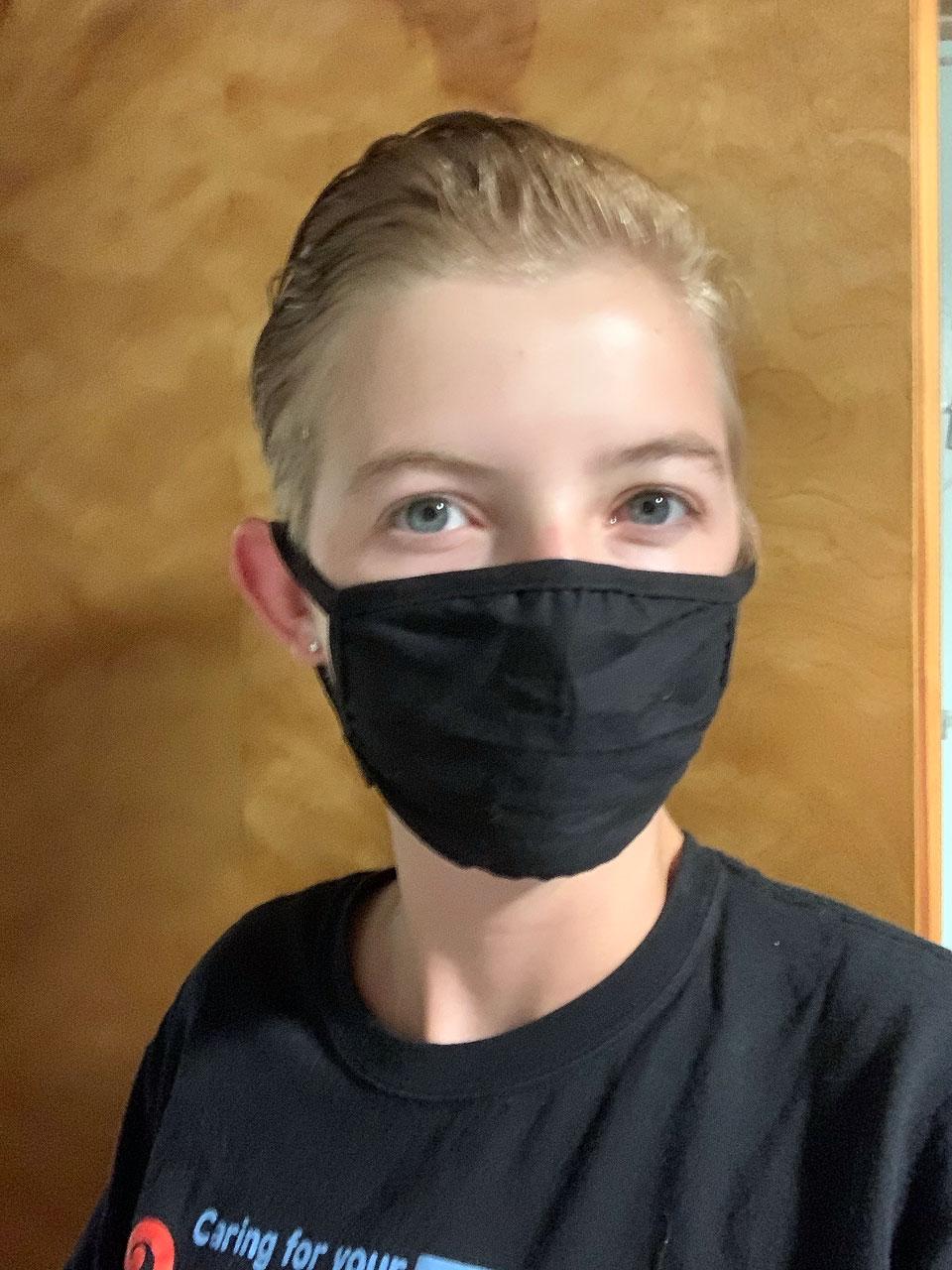 Shelby Jensen shares a mask selfie